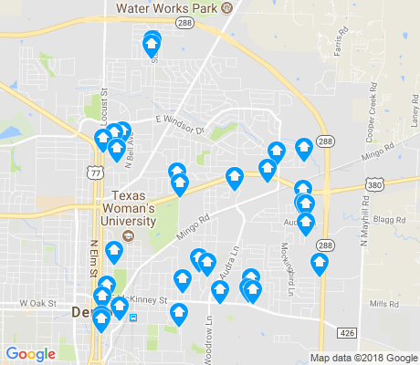 map of 76209 apartments for rent