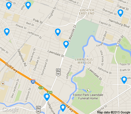 map of Lawndale / Wayside apartments for rent