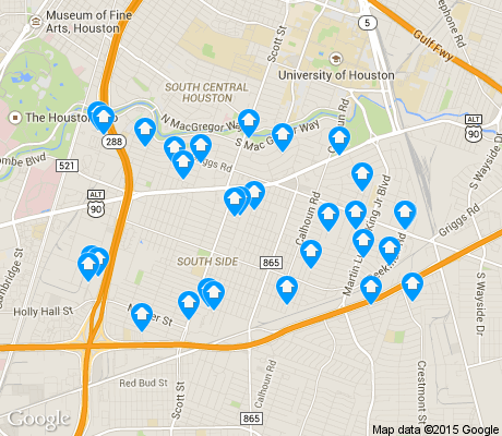 map of Ost / South Union apartments for rent