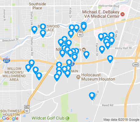 map of South Main apartments for rent