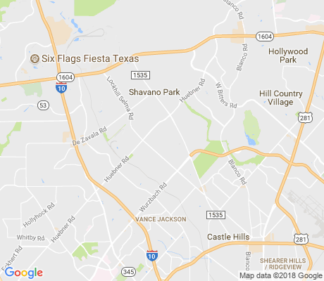 map of Hunters Creek apartments for rent