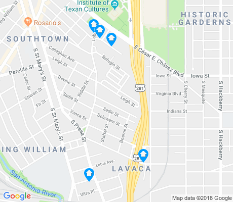 map of Lavaca apartments for rent