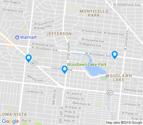 map of Woodlawn Lake apartments for rent