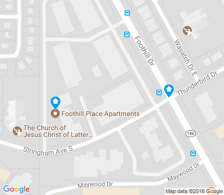 map of Arcadia Heights apartments for rent