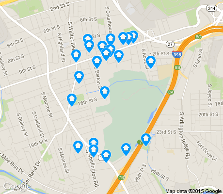 map of Columbia Heghts apartments for rent