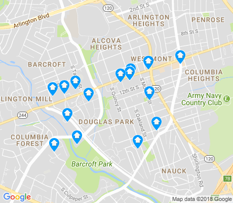 map of Douglas Park apartments for rent