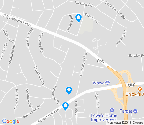 map of Oxford apartments for rent