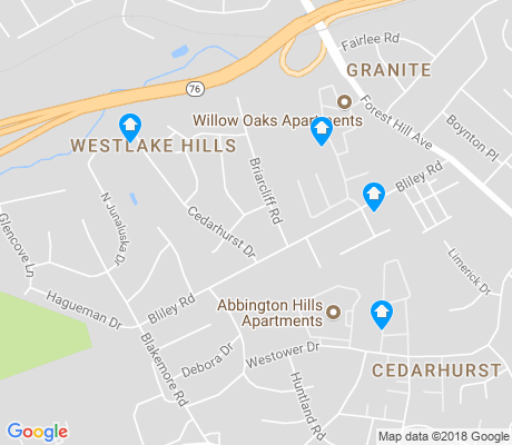 map of Westlake Hills apartments for rent