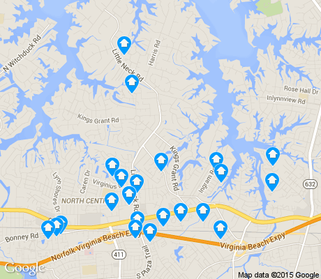 map of Kings Grant apartments for rent