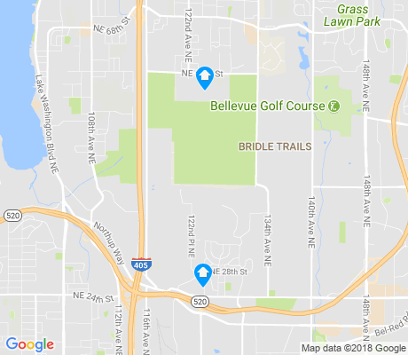 map of Bridle Trails apartments for rent