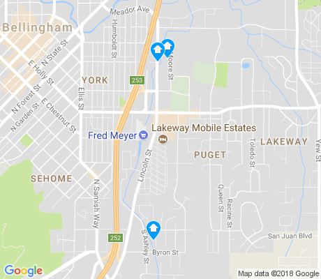 map of Puget apartments for rent
