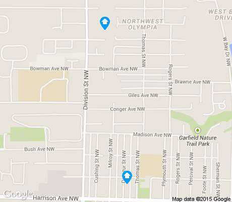 map of Northwest apartments for rent
