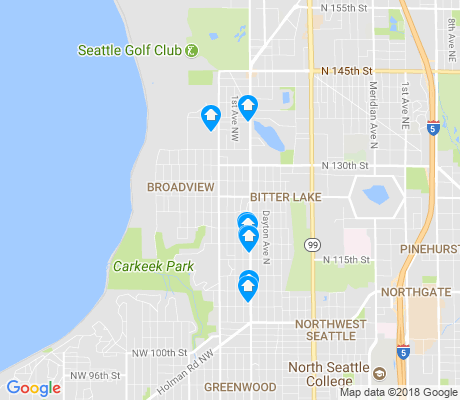 map of Broadview apartments for rent