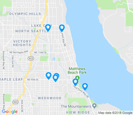 map of Matthews Beach apartments for rent