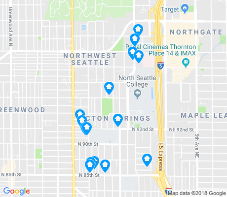 map of North College Park apartments for rent