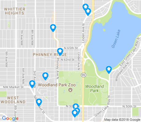 map of Phinney Ridge apartments for rent