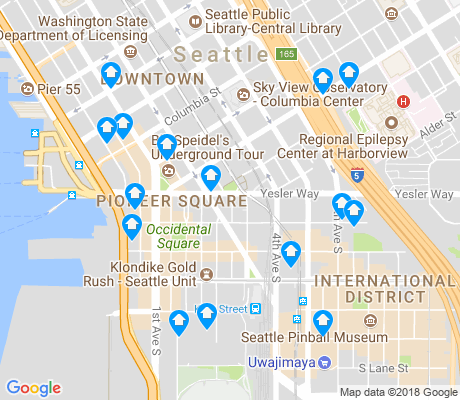 map of Pioneer Square apartments for rent