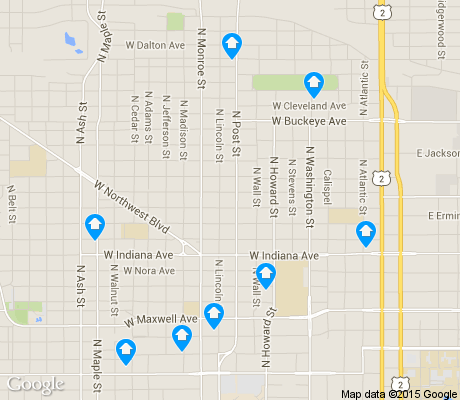 map of Emerson/Garfield apartments for rent