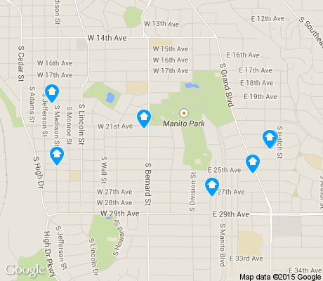 map of Manito/Cannon Hill apartments for rent