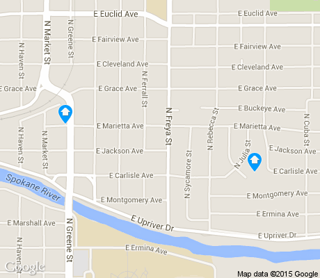 map of Minnehaha apartments for rent