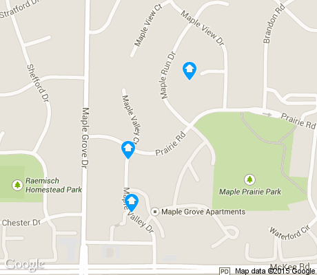 map of Maple-Prairie apartments for rent