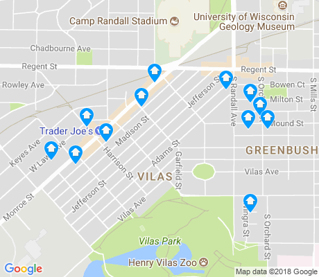 map of Vilas apartments for rent