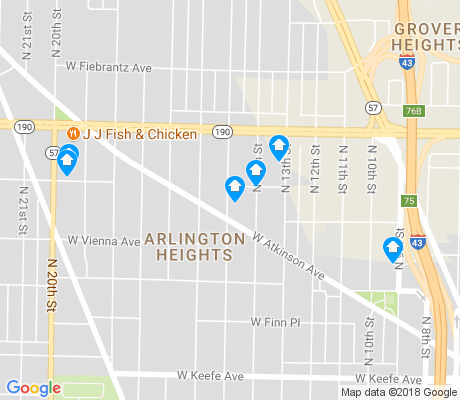 map of Arlington Heights apartments for rent