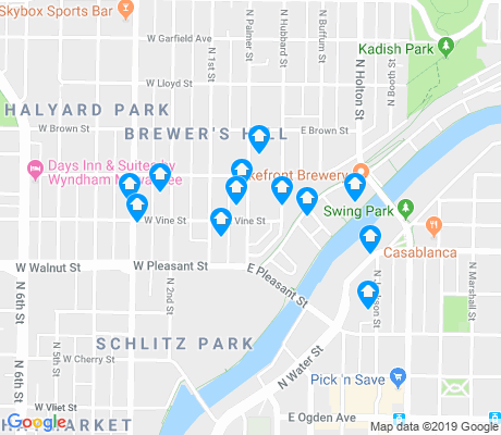 map of Brewer's Hill apartments for rent