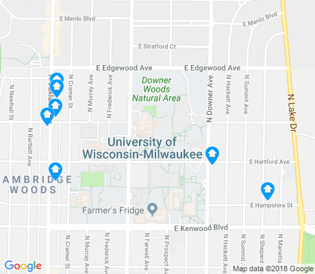 map of Downer Woods apartments for rent