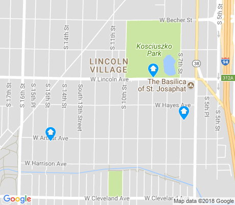 map of Lincoln Village apartments for rent