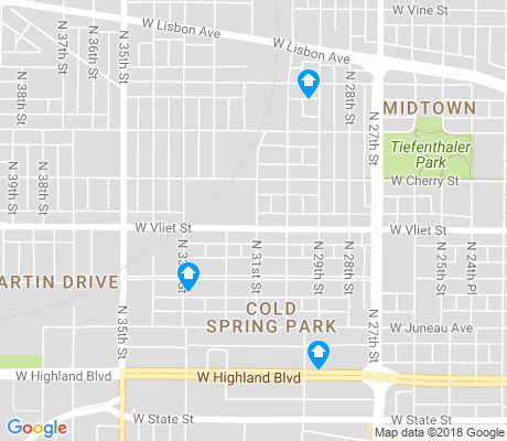 map of Midtown apartments for rent