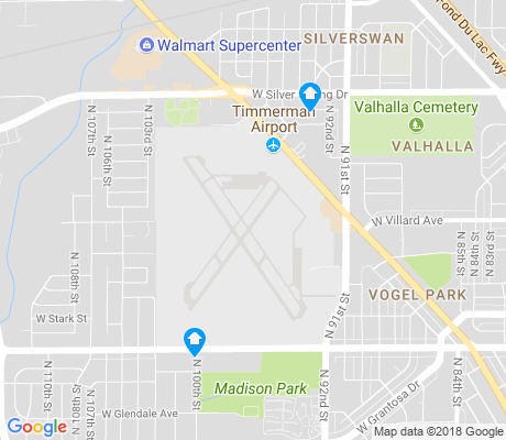 map of Timmerman Airport apartments for rent