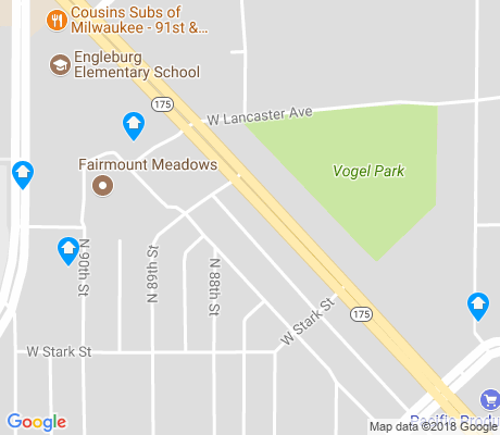 map of Vogel Park apartments for rent