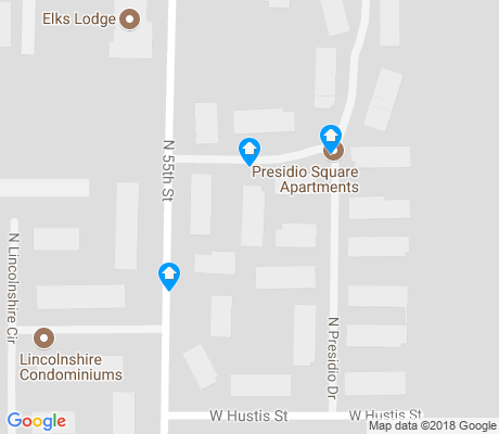 map of Wyrick Park apartments for rent