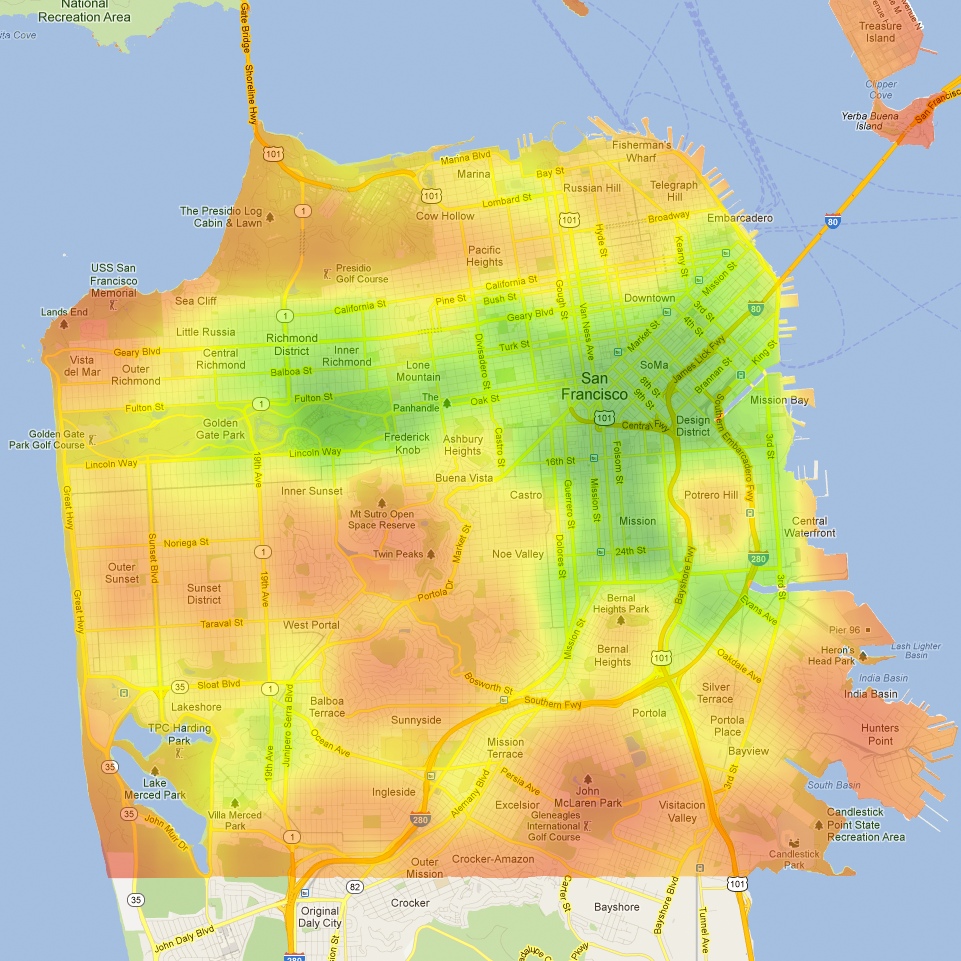 20 maps of san francisco they never showed you in your tech incubator