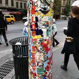Photo of Mosaic Street Pole in East Village