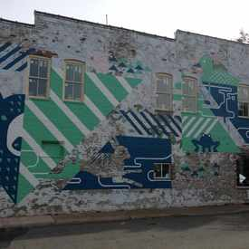 Photo of Mural On The Side Of One Meatball Place in Main/Starr Hill