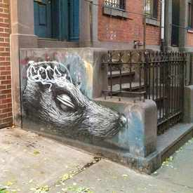 Photo of Stoop graffiti in East Village