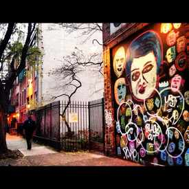 Photo of Mural On Building Front in East Village