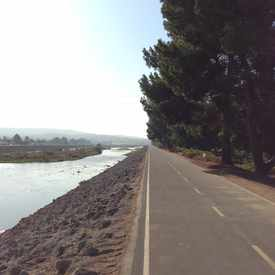 Photo of Santa Ana River Bed Bike Trail in Northeast Anaheim