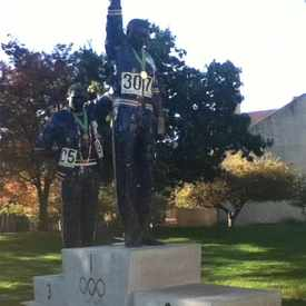 Photo of 1968 Olympics Tommie Smith & John Carlos Statue in Downtown