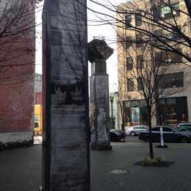 Photo of The Lovejoy Columns in Pearl District