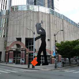 Photo of Hammering Man in Downtown