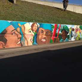Photo of Jefferson Street Mural