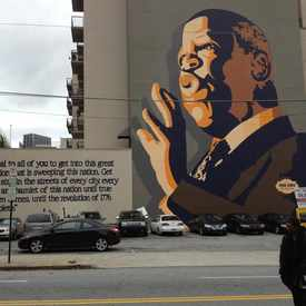 Photo of John Lewis Wall Mural in Downtown