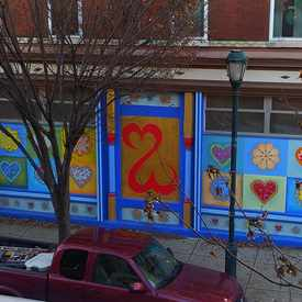 Photo of Open Hearts Mural in Center City West