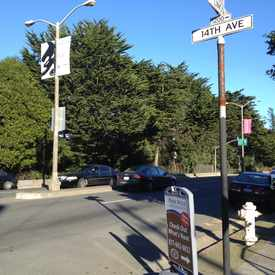 Photo of Lincoln Way & 14th Avenue in Inner Sunset