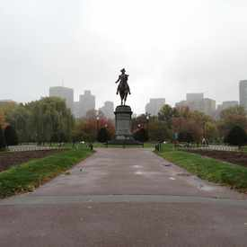 Photo of George Washington Statue in Back Bay