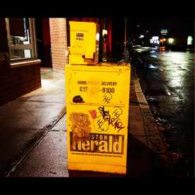 Photo of Wheatpaste On News box  in Allston