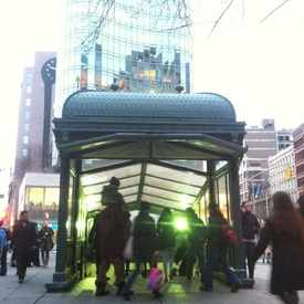 Photo of Astor Place Train Station.  in East Village